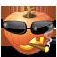 cool, halloween, jack o lantern, pumpkin icon