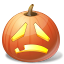 halloween, jack o lantern, pumpkin, sad icon