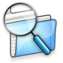 file, manager, search icon