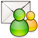 accounts, mail, preferences icon