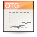 opendocument graphics, template icon