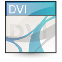 dvi, mime icon