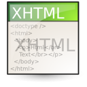 html, mime, xhtml icon