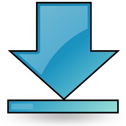 arrow, bottom, download icon