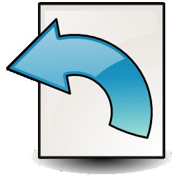 document, revert icon