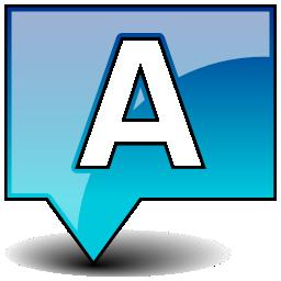 insert, text icon