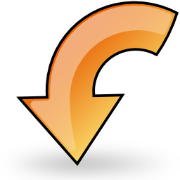 left, object, rotate icon