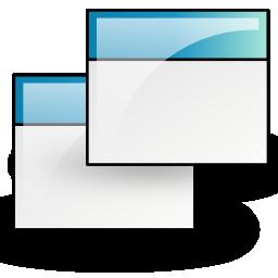applications, panel, window, windows icon