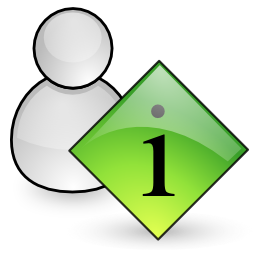 info, user icon