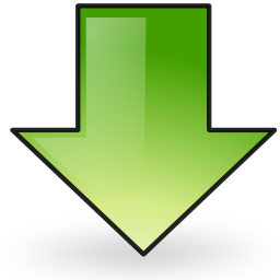 arrow, down, download icon