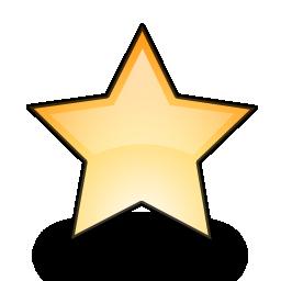 emblem, new, star icon