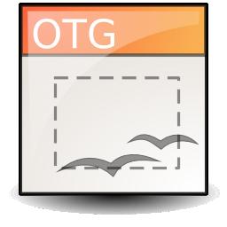 opendocument graphics, template icon