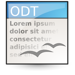 opendocument text icon