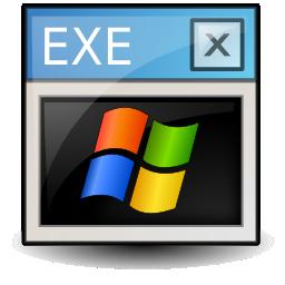 dos, executable, ms icon