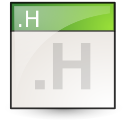 c++hdr, text icon