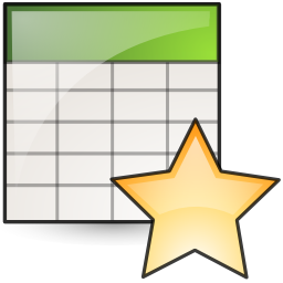 new, spreadsheet icon
