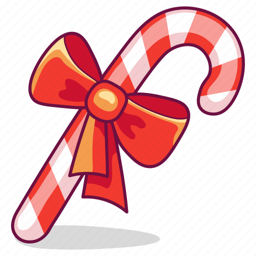 Bow, candy, cane, christmas, gift icon - Download on Iconfinder