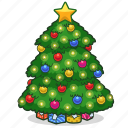chritsmas, decoration, holiday, ornament, presents, star, christmas tree