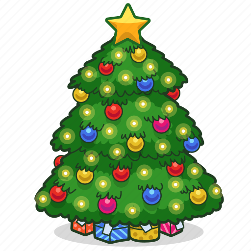 Chritsmas, decoration, holiday, ornament, presents, star, christmas tree icon - Download on Iconfinder