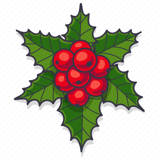 Berries, christmas, decoration, leaves, xmas icon - Download on Iconfinder