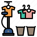 ironing, iron, clothes, shirt, steam