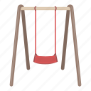 entertainment, equipment, park, playground, rest, swing icon