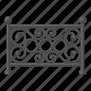 barrier, entertainment, fence, park, pattern, rest