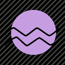 aquarius, zodiac icon