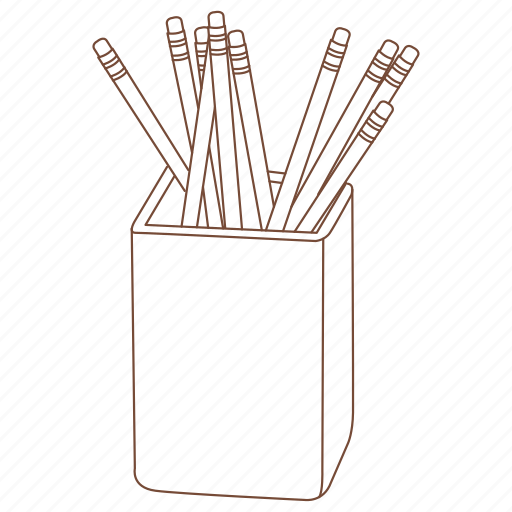 cup, holder, office, pen, pencil icon