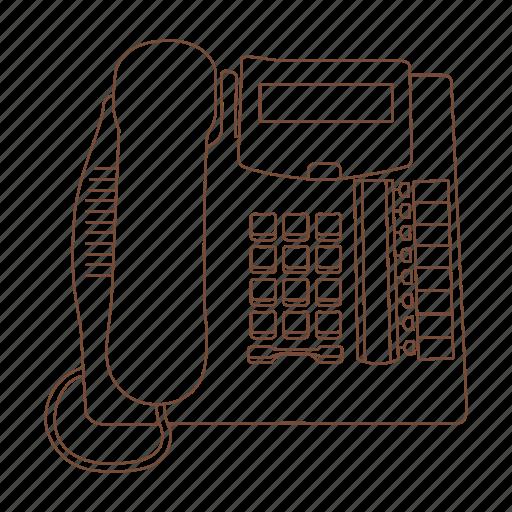 call, desk, office, phone, speaker, telephone icon