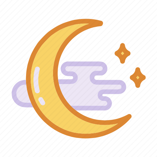 crescent, halloween, magic, moon, night, witch, wizard icon