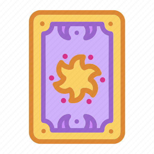 card, fortune telling, halloween, magic, sun, witch, wizard icon