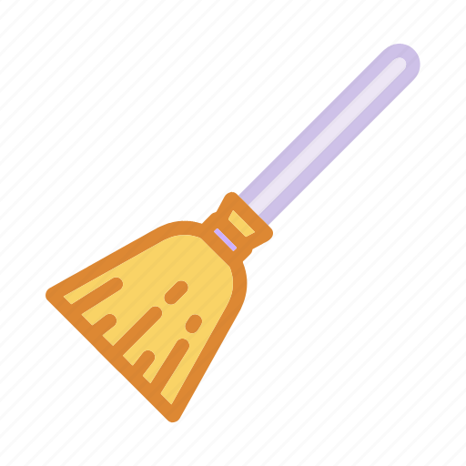 broom, cleaning, halloween, magic, stick, witch, wizard icon