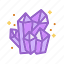 crystals, diamonds, halloween, jewels, magic, witch, wizard icon