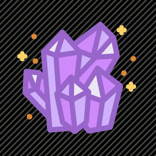 crystals, diamonds, halloween, jewels, magic, witch, wizard icon
