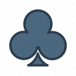 cards, casino, clubs, gambling, game, play, suit icon