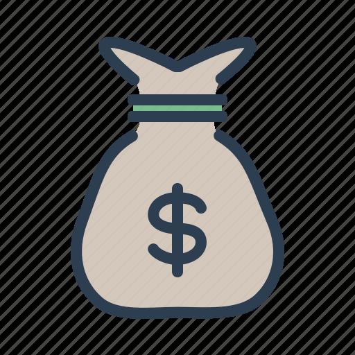 cash, casino, money, moneybag, purse, rich, sack icon