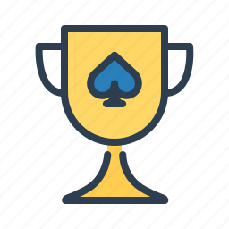 award, casino, cup, prize, spade, trophy, winner icon