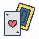 ace, blackjack, cards, casino, gmabling, heart, poker icon