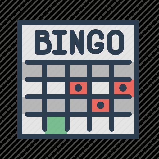 bingo, casino, gamble, game, leisure, lottery, lotto icon