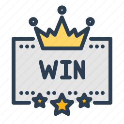 award, casino, crown, fortune, luck, win, winner icon