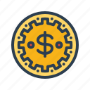 bet, casino, chip, coin, dollar, gambling, playing icon
