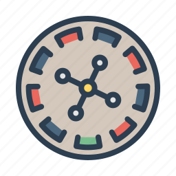 casino, chance, gambling, game, play, roulette, table icon