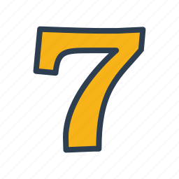 casino, gambling, lucky seven, machine, number, seven, slot icon