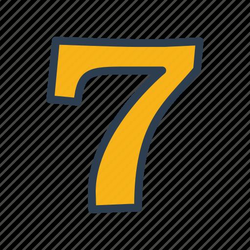 casino, lucky seven, machine, slot icon