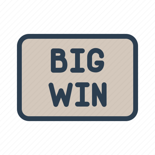 big win, casino, gambling, game, leisure, machine, slot icon