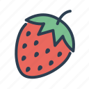 fruit, machine, slot, strawberry icon