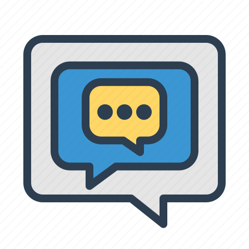 chat, communication, conversation, customer service, dialogue, message bubble, talk icon