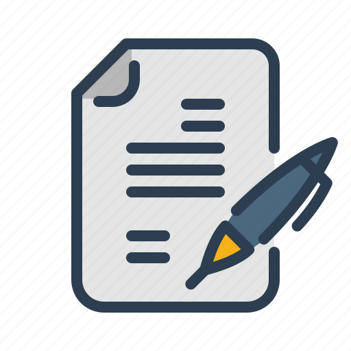 communication, compose, document, file, pen, text, write icon