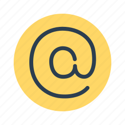 @, at, communication, electronic, email, mail, sign icon